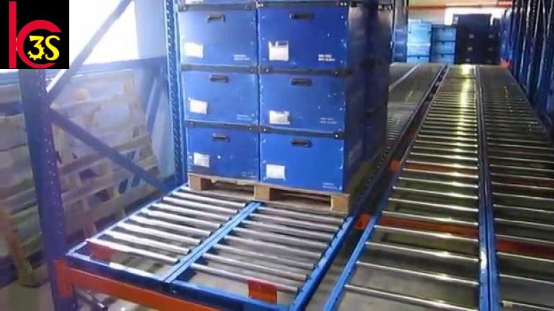 Kệ để hàng hạng nặng carton flow