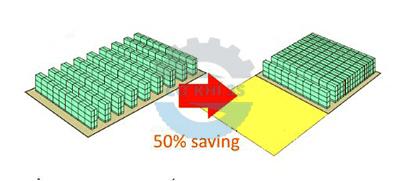 Kệ tiết kiệm 50% diện tích kho