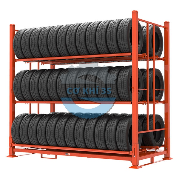 Kệ pallet sắt để lốp xe